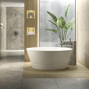 baignoire à poser / ronde / en porcelaine / profonde
