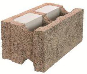 bloc de coffrage en béton de bois / pour mur / isolant