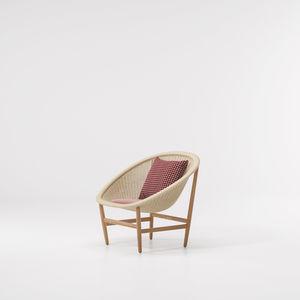 fauteuil contemporain / en chêne / en teck / en fibres synthétiques