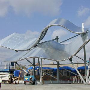 auvent pour bâtiment tertiaire / en aluminium / en titane / professionnel