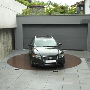 plateforme pour parking tournante