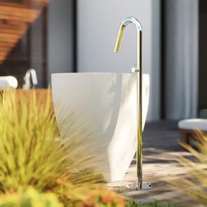 mitigeur pour vasque / au sol / en acier inoxydable / d'extérieur