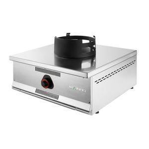 table de cuisson à gaz / professionnelle / wok / en inox