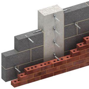 système de fixation en métal / pour bardage de façade / pour façade ventilée / pour extérieur