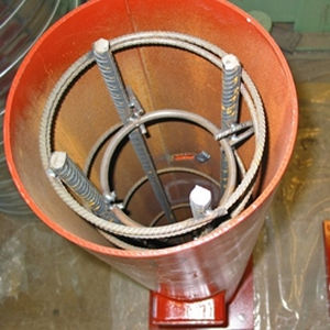 colonne en composite / en acier / préfabriquée