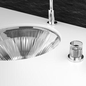 vasque à encastrer / ronde / en cristal / de style