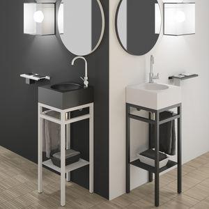 meuble vasque à poser / en métal / en VetroFreddo® / contemporain