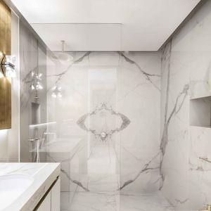 revêtement mural en céramique / résidentiel / lisse / aspect marbre