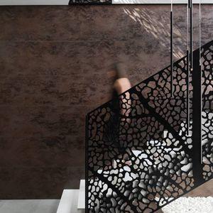 revêtement mural en céramique / résidentiel / texturé / aspect métal