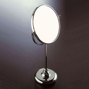 miroir de salle de bain sur pied / grossissant / contemporain / rond