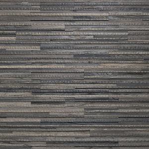 parement en chêne / d'intérieur / texturé / noir