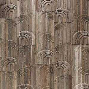 revêtement mural en teck / résidentiel / pour le tertiaire / texturé