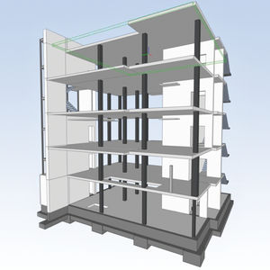logiciel de planification coffrage / pour structures en béton / 3D