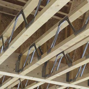 poutre préfabriquée / en bois / en métal / de section rectangulaire