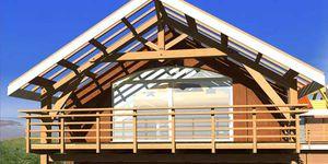 charpente de toiture en bois massif / préfabriquée