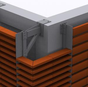 système d'ancrage en métal / pour façade ventilée / pour bardage de façade