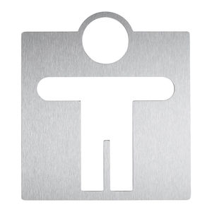 pictogramme de porte en acier inoxydable