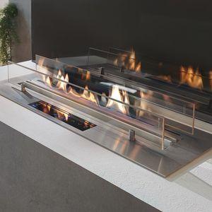 brûleur au bioéthanol rectangulaire / contemporain / à encastrer