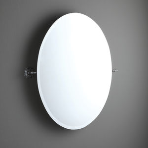 miroir de salle de bain mural / basculant / de style / ovale