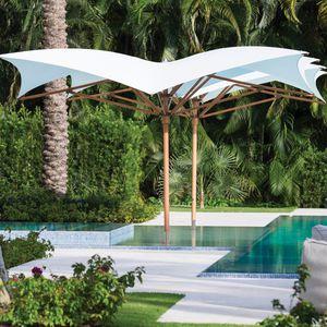 parasol professionnel / en tissu / en aluminium / avec chauffage intégré