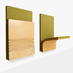 chaise visiteur contemporaine / pliante / en contreplaqué moulé / en tissu