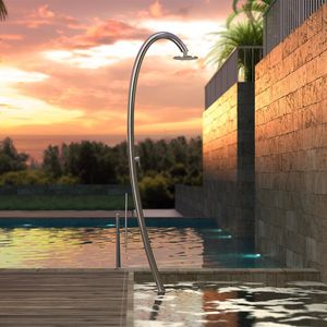 douche de jardin de piscine / en acier inoxydable / résidentielle / professionnelle