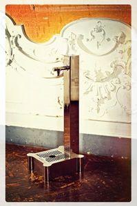 fontaine de jardin / en inox