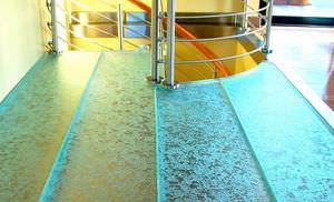 revêtement de sol en verre