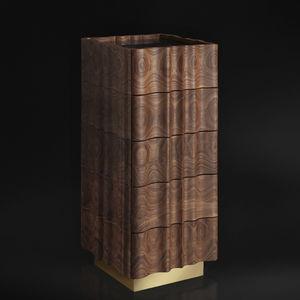 chiffonnier design original / en noyer américain / en bois massif / marron