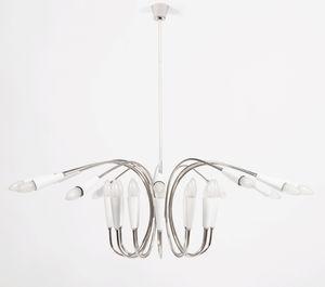 lustre contemporain / en laiton / en aluminium / fait main