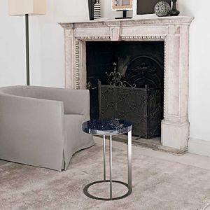 table d'appoint contemporaine / en bois / en marbre / rectangulaire