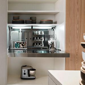 armoire de rangement pour cuisine contemporain / stratifié