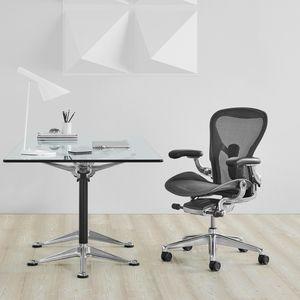fauteuil de bureau contemporain / en maille / en métal / à roulettes