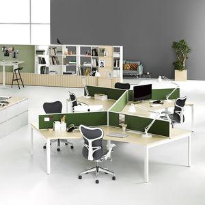 bureau pour open space / en plaqué bois / en stratifié / en métal