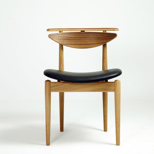 chaise de salle à manger design scandinave / tapissée / en chêne / en noyer