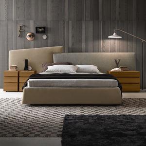 table de chevet contemporaine / en bois laqué / rectangulaire / carrée