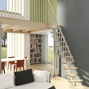 escalier droit / quart tournant / demi-tournant / structure en acier
