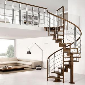escalier droit / quart tournant / hélicoïdal / demi-tournant