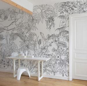 papier peint contemporain / à motif nature / floral / scène