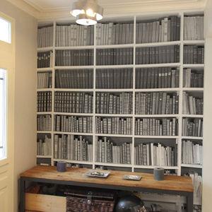 papier peint contemporain / bibliothèque / panoramique / aspect papier peint