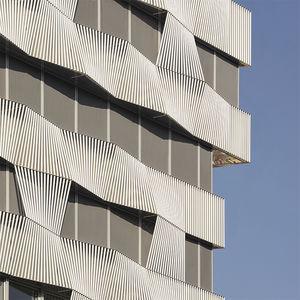 tissu pour protection solaire / pour store enrouleur / uni / en fibre de verre