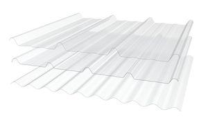 plaque de toiture en polyester / ondulé / translucide