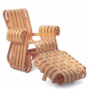 fauteuil design original / en érable / en bois courbé / avec repose-pieds