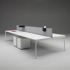séparateur de bureau sur bureau / en tissu / stratifié / en acrylique