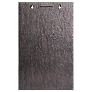 tuile plate / en terre cuite / noire / aspect ardoise