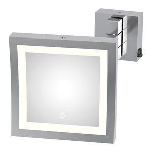 miroir mural / lumineux (LED) / grossissant / contemporain