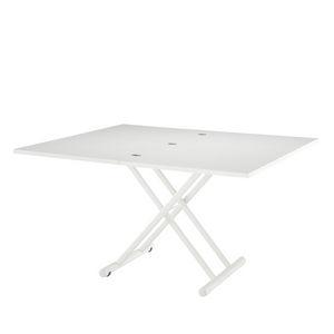 table contemporaine / époxy / en plastique / en acier laqué