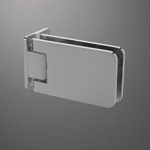charnière pour porte en verre / pour meuble / en métal / avec système d'auto-fermeture