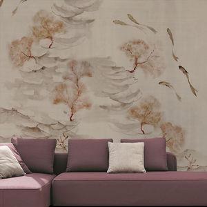 papier peint design original / en coton / à motif nature / chinoiserie