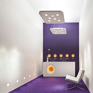 luminaire suspendu / fluorescent / halogène / carré